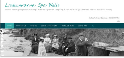 Lisdoonvarna spa wells website