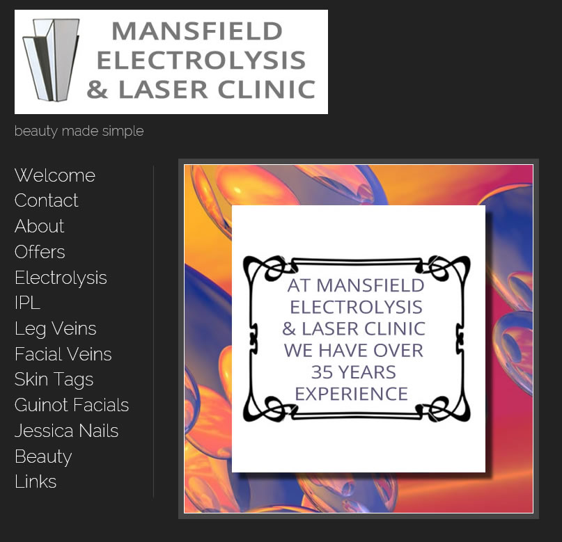 Mansfield Electrolysis Clinic website